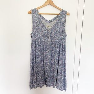 Denim & Supply blue floral button up dress XL